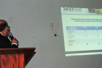Roubos de cargas é tema de seminário promovido pelo Sindmat