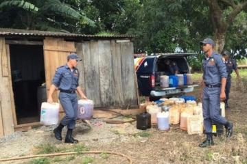 Polícia apreende combustíveis em posto clandestino em Nova Mutum