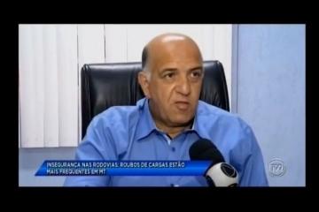 Reportagem da TV Vila Real sobre aumento do roubo de cargas em Mato Grosso