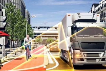 Abertura da Semana Mobilidade aborda pontos cegos de um caminhão