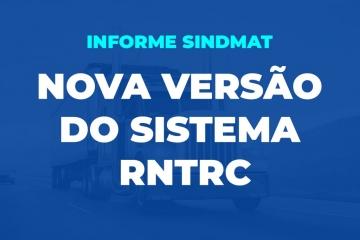 NOVA VERSÃO DO SISTEMA RNTRC