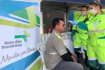 No combate ao coronavírus, Rota das Bandeiras disponibiliza dois novos pontos de apoio aos caminhone