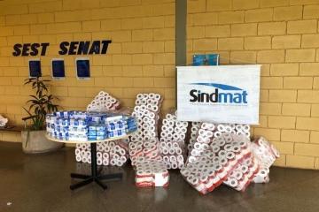 Sindmat doa itens para mobilização nacional do Sest Senat em apoio aos caminhoneiros durante pandemi