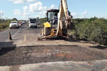 BR-364: travessia urbana de Jaciara passa por recuperação com restrição de tráfego