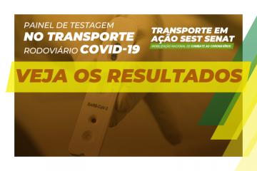 SEST SENAT lança painel com impacto da pandemia sobre a saúde dos trabalhadores do transporte